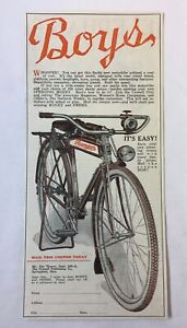 1932 bicycle ad ~ MEAD RANGER ~ Boys Whoopee!