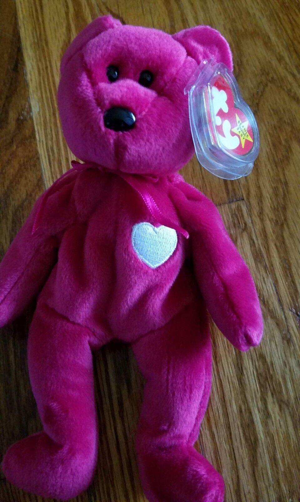 TY Beanie Baby VALENTINA Red Bear