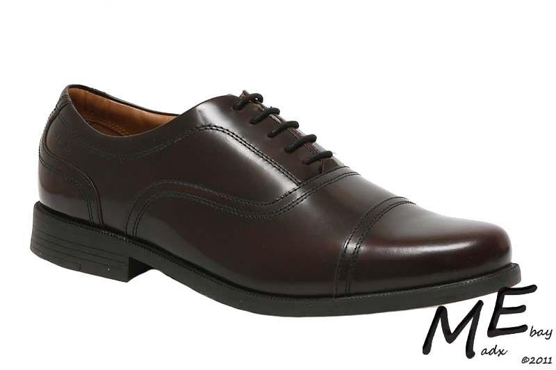 New Clarks Beeston Cap Burgundy Pelle Uomo Shoes Size 11.5