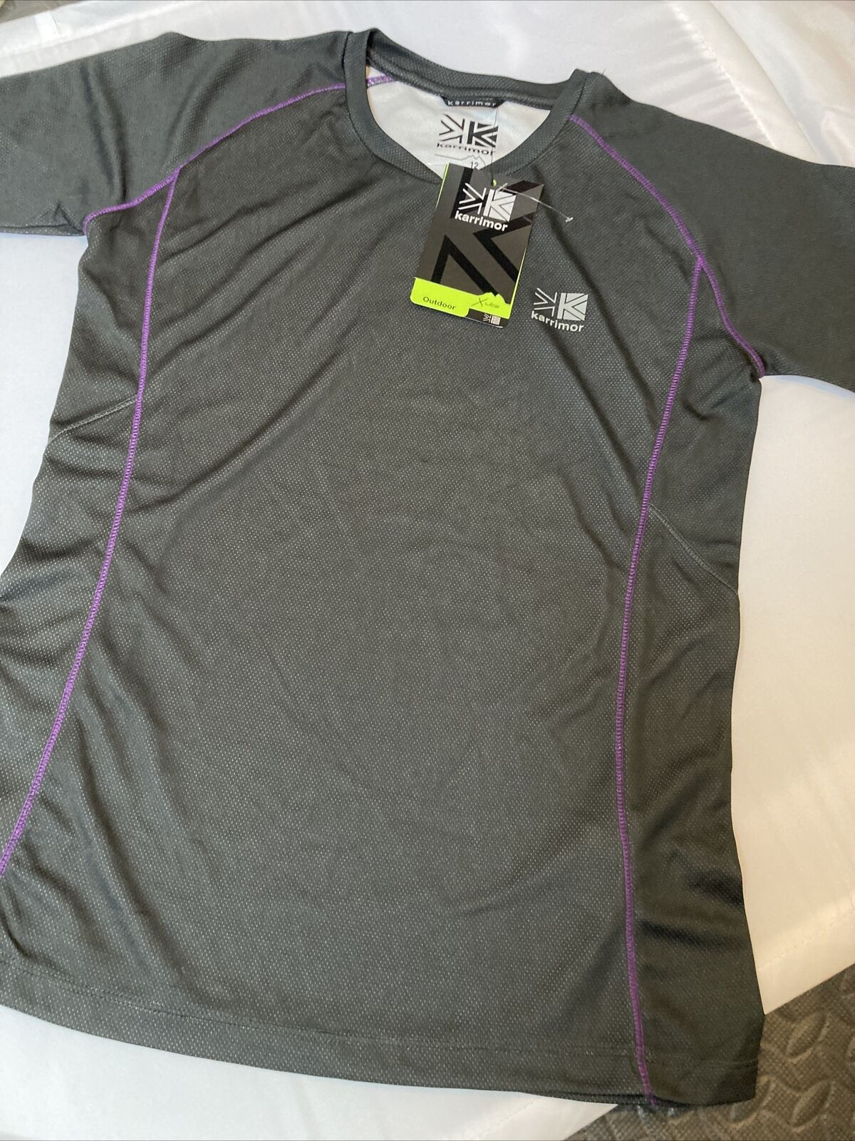 Womens Ladies Karrimor Tech T-Shirt 12 Charcoal Breathable Quick Dry Lightweight