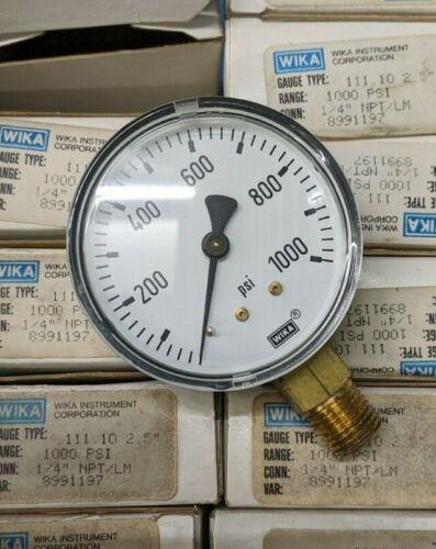 "ONE NEW Wika Pressure Gauge 2.5 inch diameter 1000 PSI 1//4"" NPT 8991197"