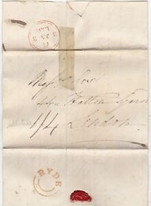 1832-ISLE-OF-WIGHT-UDC-RYDE-ORANGE-INK-POSTMARK-LETTER-WADE-gt-COX-amp-Co-LONDON