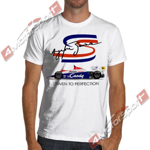 AYRTON SENNA F1 Unisex Tshirt White Men/'s T-Shirt