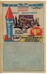 """1974 Vintage Sales Sheet: """"FREEDOM FIREWORKS"""""""