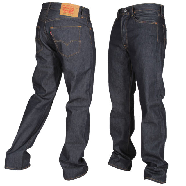 91676c029a1 Levi's Mens 501 Rigid Blue Shrink to Fit Jeans 34 X 32 Straight Leg ...