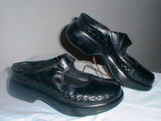 Dansko Midori Negro Cuero 7305020200 Mary Jane Zueco Zapatos 7305020200 Cuero Talla 37 = Talla 6.5 5ef911