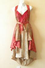 "M577 Kariza Style Boho Vintage Silk Magic 30"" Wrap Skirt Halter Tube Dress"