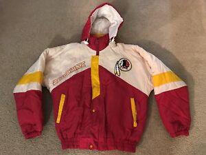 quality design 95238 05002 Details about VINTAGE WASHINGTON REDSKINS JACKET 2-SIDED HOODED L Large  1980s 1990s STARTER ?