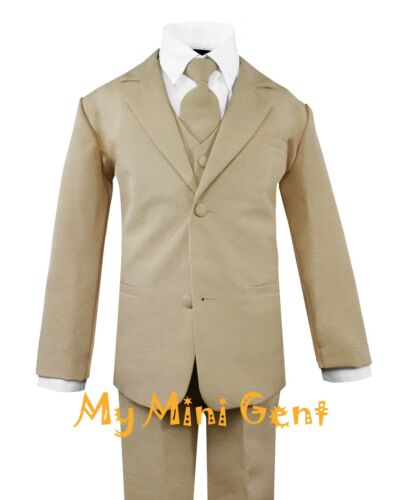 My Mini Gent Baby Toddler Boys 5PC Classic Fit Formal Suit Set Choice of Colors