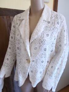 Cynthia Prezzo 99msrp Xl Dress Women Jacket Blazer Cotton più basso Ivory Lace OSwqESr
