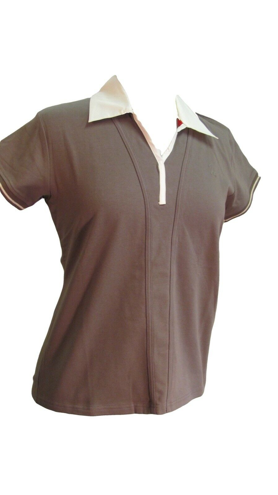 Isabell Werth Ideal Equestrian Show Shirt, Tundra (Cocoa) Brown, Short Sleeve