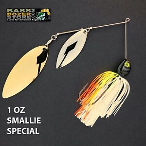 Bassdozer-spinnerbaits-BIG-WILLOW-1-oz-SMALLIE-SPECIAL-DOUBLE-spinner-bait