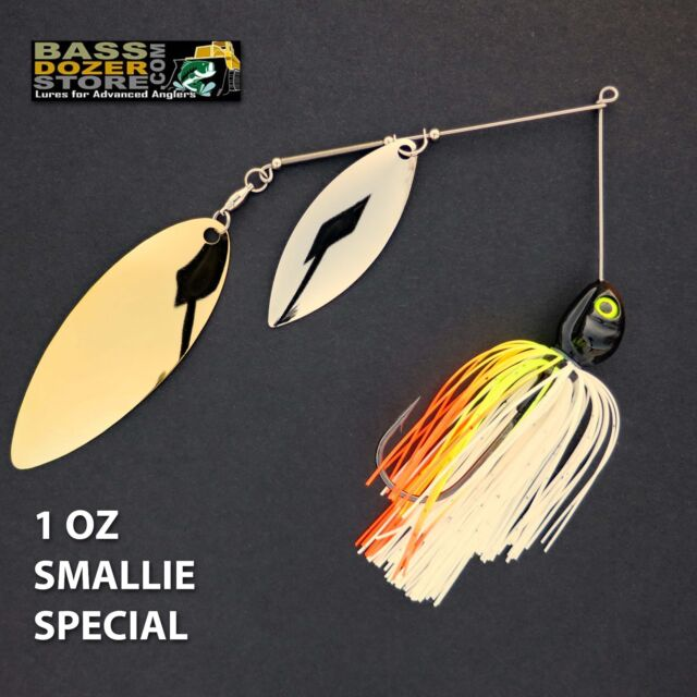 Bassdozer spinnerbaits BIG WILLOW 1 oz. SMALLIE SPECIAL DOUBLE spinner bait