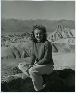 Mountain Climbing Marilyn Monroe Inkstamped Large Andre de Dienes Photograph