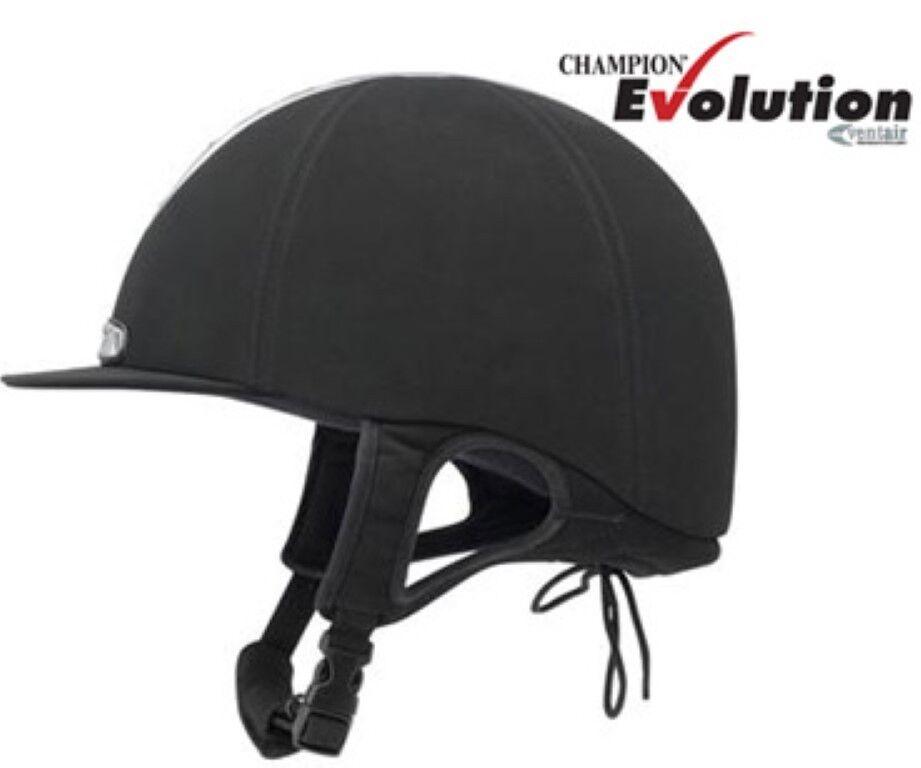 Champion Ventair Evolution Équitation Chapeau/Casque Kitemark PAS015 54 cm cm cm noir 9e4d3a