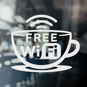 Free Wifi Inside//here Cafe Coffee Shop Business Sign Window Vinyl Decal Sticker