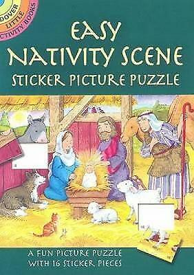 Easy Nativity Scene Sticker Picture Puzzle by Cathy Beylon (Paperback, 2006)