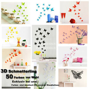 wandtattoo wandstickers wanddeko 3d schmetterlinge butterfly 002 ebay. Black Bedroom Furniture Sets. Home Design Ideas