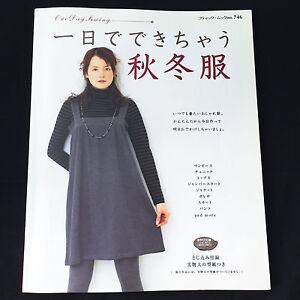 Faire-automne-hiver-vetements-dans-1-jour-sewing-patterns-book-japonais-Craft-Import