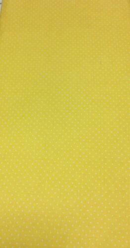 Tela De Lunares Moda esencial Pin Blanco Puntos Amarillo 8654-37 material Irregular Polka