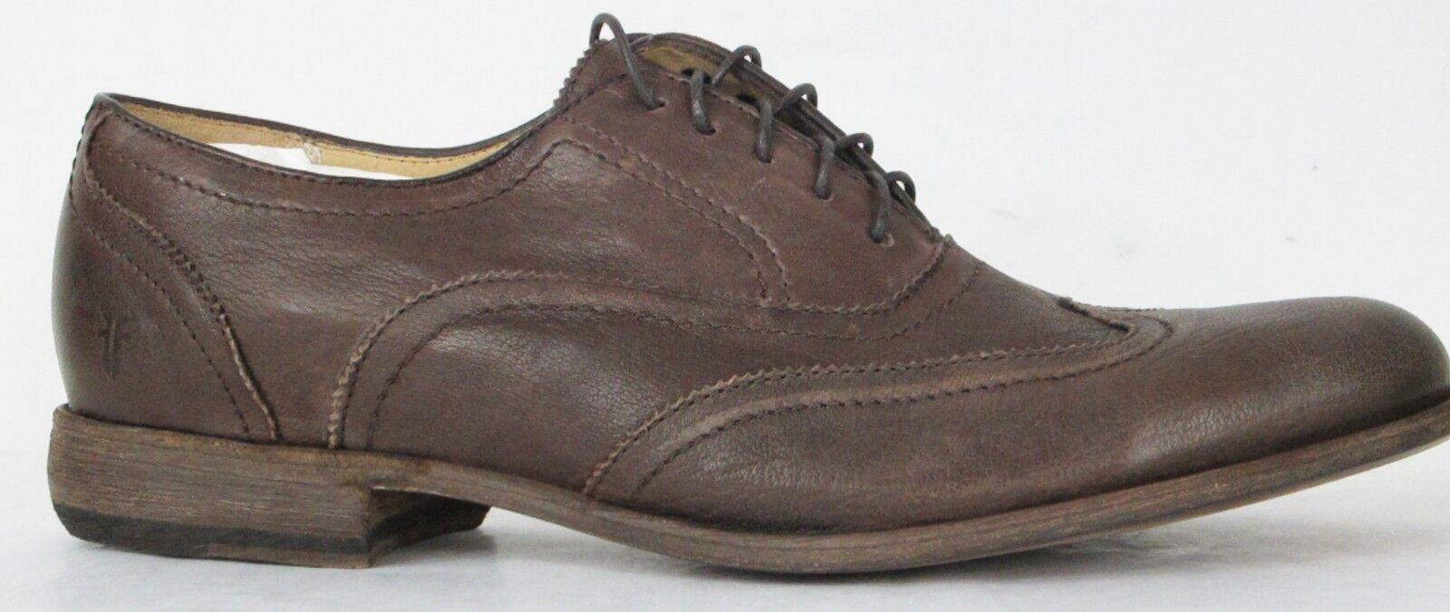 FRYE Bottes Harvey Bout D'Aile marron foncé antique en cuir 84470 Sz 11  348