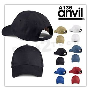 f09eff9950a8a Plain Fitted Curved Visor Baseball Cap Hat Solid Blank Color Caps ...