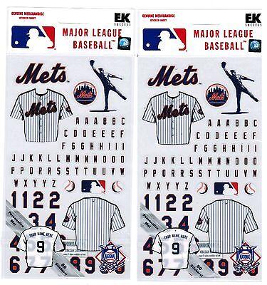 Jersey 2 paquetes Scrapbook pegatinas Ek Success New York Yankees Mlb Baseball