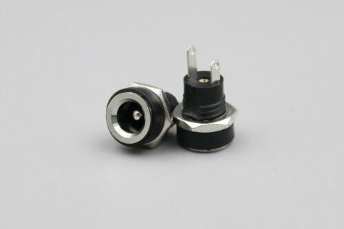 20Pcs toma de alimentación de DC-022B DC 5.5X2.1mm hembra Conector de cobre de montaje del panel
