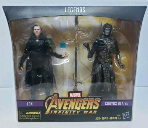 Marvel Legends Series Avengers Loki /& Corvus Glaive 2-Pack