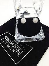 New 8mm Swarovski Element Round Crystal Pave Disco Ball Sterling Silver 925 Stem