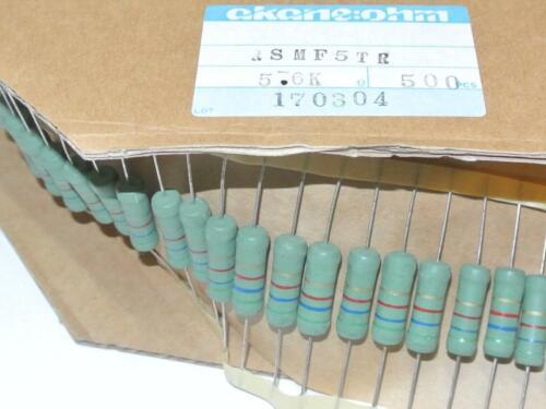 5.6K 5W Flameproof Resistors Metal Oxide AKANE:OHM JAPAN RSMF5TR QTY=25pcs