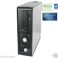 DELL DUAL CORE 2 FAST GHZ DESKTOP OPTILEX  PC 4 GB, 1 TB HDD WINDOWS 7 64, DVDRW
