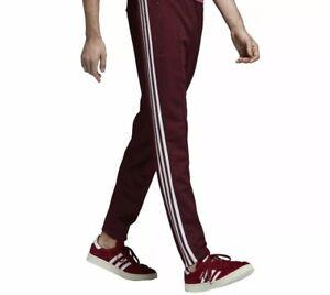 comedia picar Idear  Adidas Originales Pista Pantalones Sst Traje de Hombre Vino con Bandas  Lateral | eBay