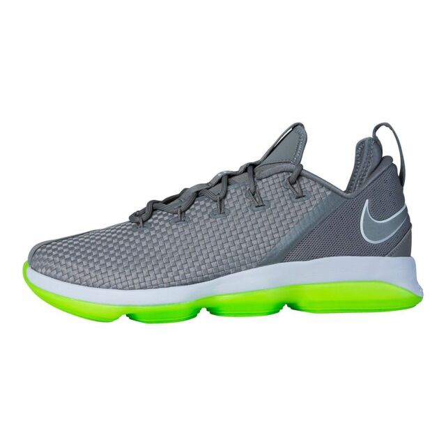 2bed056f6e7 Nike Lebron 14 XIV Low Shoes Mens Sz 10 Dust Grey green 878636 005 ...
