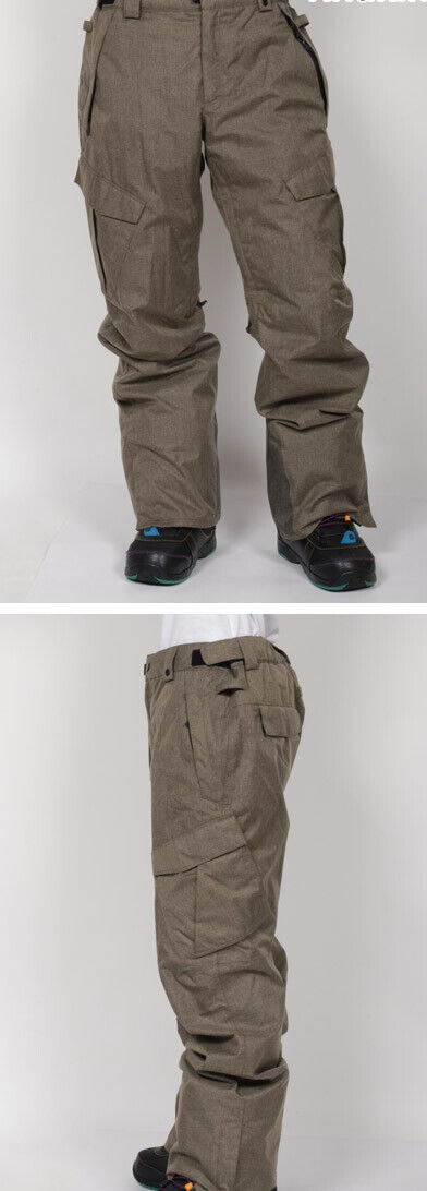 686 Infinity Cargo Snowboard Pant (L) Khaki Melange L8W209-KHA