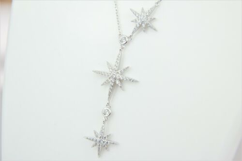 Three Christmas Star 925 genuine silver tarnish free necklace with pendantgifts