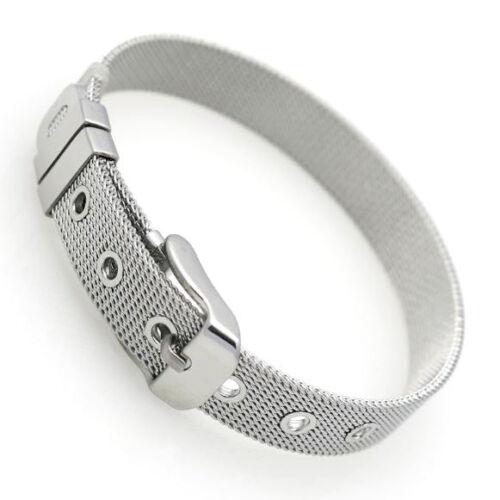 Pulsera de acero inoxidable milanaise señora 12 mm de ancho alto brillo ajustable en tamaño