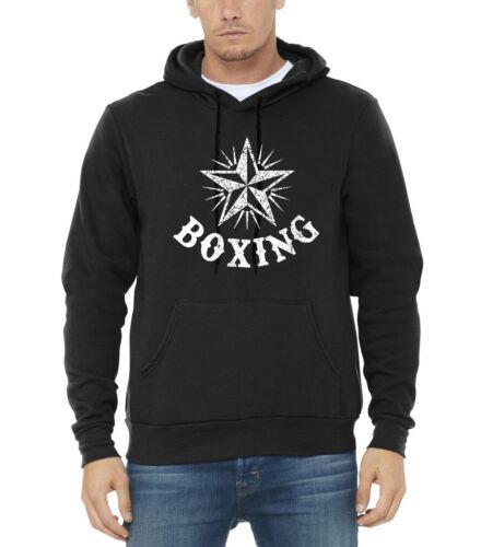 Star noir à Entraînement Mma Sweat hommes Boxing Fitness pour Kickboxing Combat capuche wkPnO0