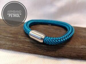 Segeltau Armband Petrol 8mm Edelstahl Magnetverschluss Ebay