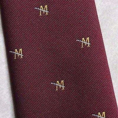 Compiacente Vintage Cravatta Da Uomo Cravatta Crested Club Associazione Società Borgogna-mostra Il Titolo Originale Pacchetti Alla Moda E Attraenti