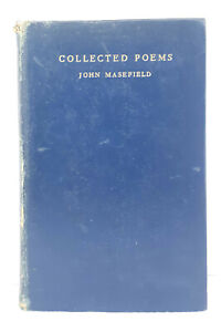 Collected-Poems-by-John-Masefield-hardcover-ribbon-bookmark-good-condition-1958