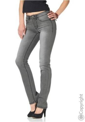 Arizona Jeans Tubo tg 34-36 NUOVO GRIGIO used Donna Pantaloni Stretch Denim Slim l32