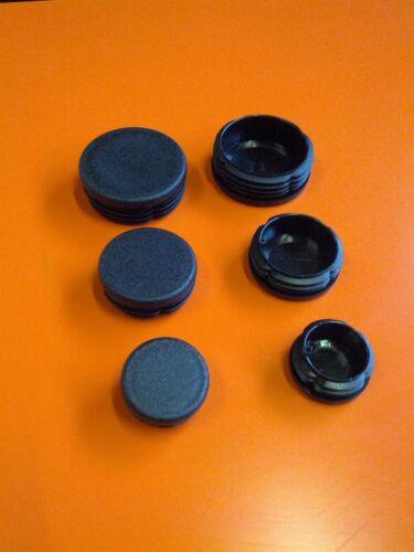 Rohrstopfen Lamellenstopfen Endkappen Rohrkappen für Rundrohre in schwarz