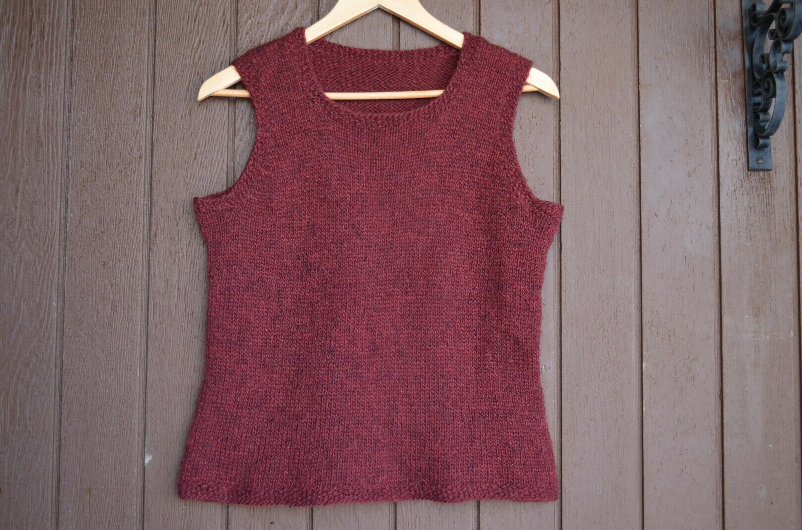 Iceland hand knit vest Size L, Birthday gift , Christmas gift, Sweater Vest