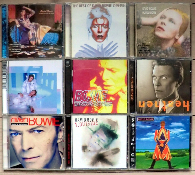 David Bowie:  David Bowie samling - 9 cd-albums, rock,…