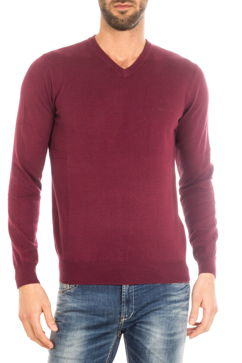 Armani Jeans AJ Sweater REGULAR FIT Man Bordeaux 8N6M826M29Z 1492 SzXL MAKEOFFER