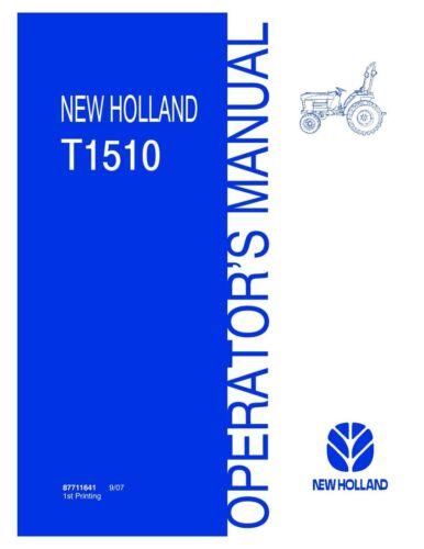 NEW HOLLAND T1510 TRACTOR OPERATORS MANUAL