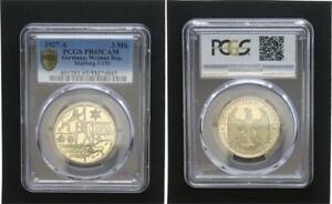 3 Reichsmark J. 330 Universidad Marburg 1927A Pulida Placa PCGS PR65 (49138)