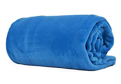 200*230 Sky Blu Misura King Peluche Pile Coperta Morbido Luxtury Caldo Divano Materiali Superiori