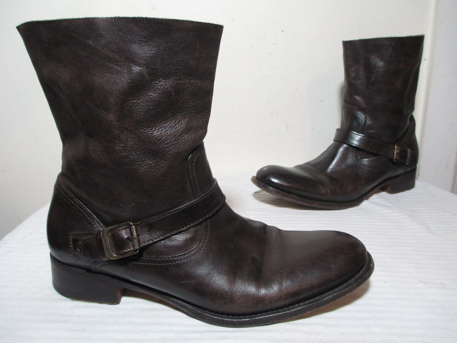 650 N.D.C BROWN LEATHER MADE BY HAND CARA BOOTS MADE IN PORTUGAL SZ 39½ US 7½